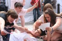 Promoting Lord of the flies - Royal Mile Edinburgh 2011